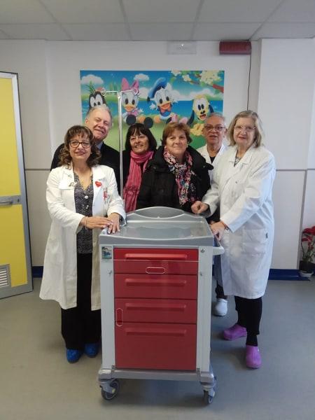 Carrello defibrillatore ossig Neonatologia 22 gen 2020